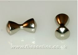 Brass Dumbbell Eyes - Silver