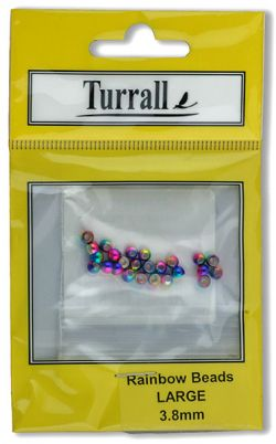 Precision made solid brass beads with a non-tarnishable Rainbow finish