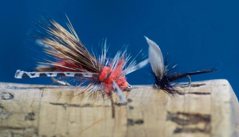 Hi Visible Black Parachute Sedges Barbless Trout Dry Flies Fly Fishing,