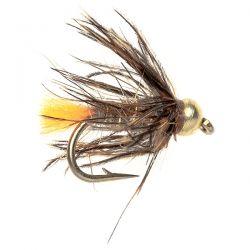 Gold Bead Wet - Orange Tail March Brown Spider