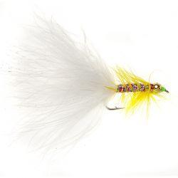 Goldhead Yellow Dancer - White Tail