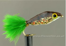 Epoxy Minnow - Gold/Lime Tail