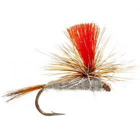 Hi Viz Parachute Adams - Fluoro Red
